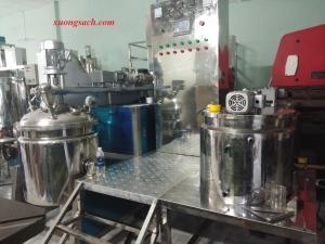 Máy sản xuất mỹ phẩm tự động và hút chân không - Hệ thống sản xuất mỹ phẩm tự động có hút chân không