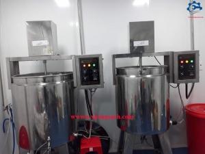 Bồn khuấy trộn mỹ phẩm có gia nhiệt – Thiết kế và chế tạo máy sản xuất mỹ phẩm tốc độ cao