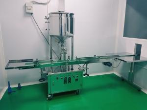 Máy chiết rót dạng sệt – Máy chiết mỹ phẩm dạng kem, sệt có gia nhiệt bán tự động