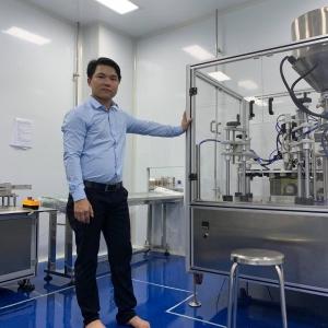 Máy chiết rót nguyên liệu dạng lỏng – Thiết bị chiết rót dịch lỏng, nhớt định lượng piston bán tự động