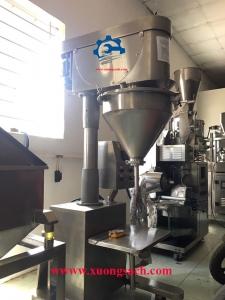 Máy định lượng bột bán tự động – Chuyên chế tạo máy chiết bột mì, bột gạo, đường trục vít giá rẻ